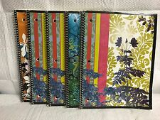 LOT OF 5 SPIRAL BOUND DECORATIVE COVER NOTEBOOKS 3 DIFFERENT DESIGNS SHIPS FREE