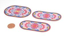Playmobil Princess Castle Bedroom Oval Rug Carpet Set - 3 Pcs 3020