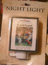 3 LOT NIGHT LIGHT BOSTON GLOBE RED SOX NIB WORLD SERIES CHAMPS