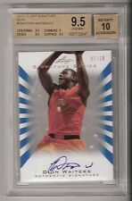 DION WAITERS 12/13 Leaf signature Blue Auto RC Rookie SN #01/10    BGS 9.5/10