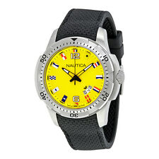 Nautica NCS 16 Flag Yellow Dial Mens Watch NAI13516G