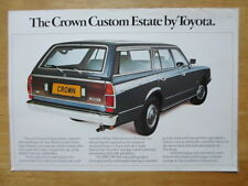 TOYOTA CROWN CUSTOM ESTATE 1977 UK Mkt Sales Leaflet Brochure