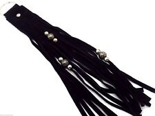 Beaded Motorcycle Fringe Whip Key Chain Genuine Leather & Suede Men or Women