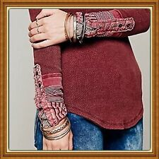 Free People Kyoto Cuff Thermal M Mulberry NWT