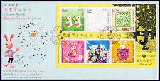 Hongkong Bl. 175 FDC, Geduldsspiele