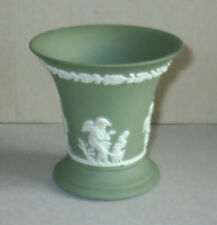 Wedgwood Jasperware Sage Green Four Seasons Vase