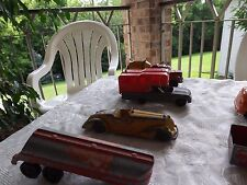 Vintage 12 pieces metal toy trucks.