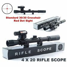 HOT 4x20 Air Gun Rifle Optics Scope Tactical Riflescope With Red Dot Laser Sight