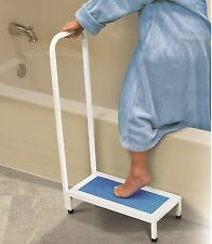 Bath Step With Handle Non Slip Surface Sturdy Aid Bathroom 500LBS NEW Shower