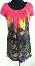 ALFANI Sheath Dress Abstract Watercolor Print Red Yellow Black Knee Length  XS