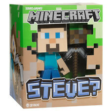 "Bundle: Minecraft Steve Vinyl Figure 6"" with Used Minecraft 12"" Creeper Head"
