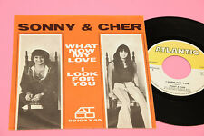"SONNY & CHER 7"" WHAT NOW .. ORIG ITALY 1967 EX+ !!!!!!!!!!!!!!!!!!"