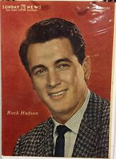 Rock Hudson Insert Cover from New York's Picture Newspaper -April, 28, 1957