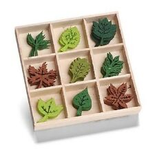Box of 45 FELT SHAPES ORNAMENTS Leaves 8001 209