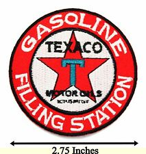 Gasoline Filling Station Logo Badge Embroidered Racing Car Iron On Patches