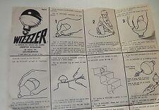 Notice Utilisation Jouet Gyrostat WIZZZER de MATTEL 1969 La Toupie Folle Vintage