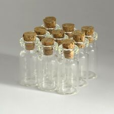 10PCS 2ML Empty Sample Vials Clear Glass Bottles With Corks Jars Small Bottle