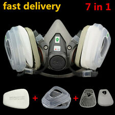 top 7 in 1 Suit 3M 6200 Spray Painting Protection Respirator half Face Gas mask