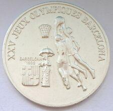 Guinea 1988 Basketball 100 Francs Silver Coin,UNC