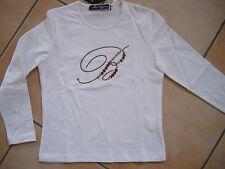 (H115) Süßes Miss Blumarine Girls Shirt +Strass Logo Besatz auf der Brust gr.104