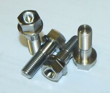 4x Titanium M10 x 1.25 x 30mm Fine Hex Flange Head Triumph Brake Calliper Bolts