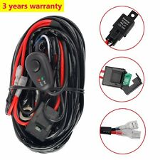 12V 40A LED Work Fog Light Bar Wiring Harness Kit Relay ON/OFF Switch Cable Kit