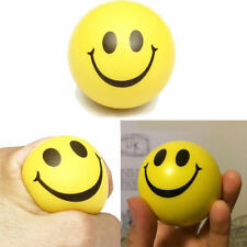 2 X Moody Happy Smiley Face Work Stress Relief Squeeze Rubber Balls Venting Toy