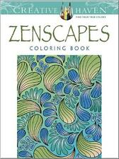 OVERSTOCK SALE ~ ADULT COLORING BOOK ~ ZENSCAPES~ REMOVEABLE PAGES 4 FRAMING