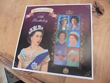 F68 Unused Queen Elizabeth II 75th Birthday collectible stamps