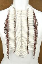 Apache Indian Style Breast Plate Bone Choker