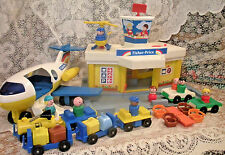Vintage Fisher Price Little People Play Family Airport #993 COMPLETE with Lobby