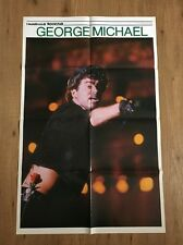 VINTAGE DOUBLE SIDED POSTER GEORGE MICHAEL + METALLICA 1986 cm. 85 x 55