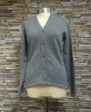 Hawick Knitwear Ladies 100% Lambswool Dove Grey V-Neck Cardigan Size S New