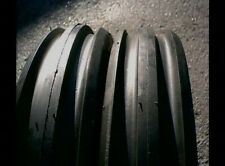 TWO New 9.5Lx15 TRIPLE RIB 8 Ply Tractor Tires with Tubes