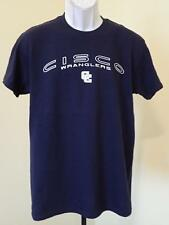 NEW - Cisco College Wranglers   ADULT MENS Size M Medium Navy Blue Shirt