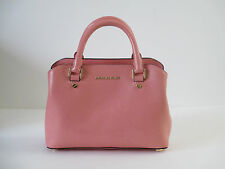 NEW Michael Kors Savannah Peach Leather Small Satchel Handbag