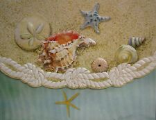 Carol Wilson Stationery 10 Blank Note Cards Envelopes Beach Sea Shells Star Fish