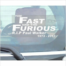 Paul Walker Sticker-The Fast and the Furious-Car,Van,Truck,Vehicle Adhesive Sign
