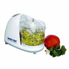 New Better Chef 1 1/2 Cup Mini Food Veggie Chopper Saftey Lock white IM-845W
