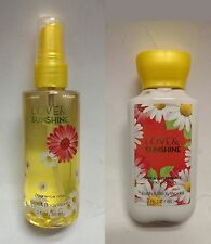 Authentic Bath & Body Works LOVE & SUNSHINE travel mini mist & lotion 88ml set