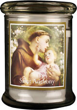 SAINT ANTHONY LED LIGHT GLASS JAR CANDLE - STATUES PICTURES CRUCIFIXES LISTED