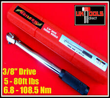 "CHIAVE DINAMOMETRICA 3/8"" Drive ** £ 5 - 80ft ** £ 60 - 960in ** 6.8 - 108.5 NM ***"