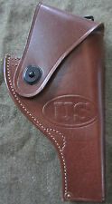 WWII US ARMY INFANTRY S&W VICTORY .38 SPECIAL PISTOL BELT HOLSTER-BROWN