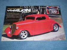 "1936 Chevy Standard Coupe Street Rod Article ""Vermilion Vice"""
