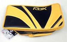 New Reebok Premier Pro intermediate ice hockey goalie blocker glove reg gold nav
