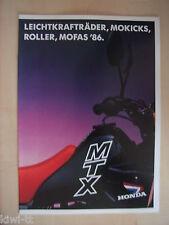 Honda Leichtkrafträder, Mokicks, Roller, Mofas ´86 Prospekt, D, 2.1986