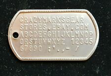 Dog Tag Tags Custom Embossed STAINLESS STEEL made by Military Combat Veteran