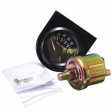 Universal Car Black Pointer Oil Pressure Gauge 0-100 PSI White LED Light 2' 52mm