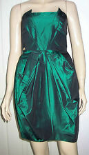 RIVER ISLAND Dark Green Hollywood Strapless Cocktail Prom  Dress Size 8  c48