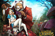 Poster A3 League Of Legends Annie En El Pais De Las Maravillas LOL